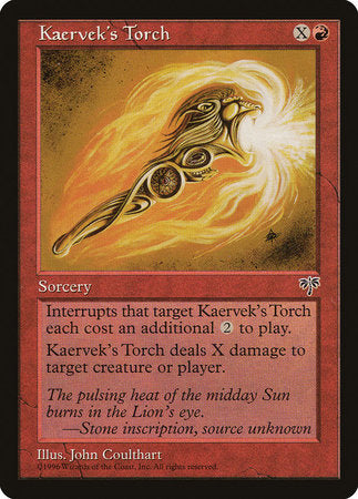 Kaervek's Torch [Mirage] | Red Dragon Gaming