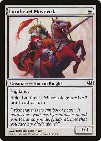 Lionheart Maverick [Duel Decks: Knights vs. Dragons] | Red Dragon Gaming