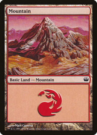 Mountain (81) [Duel Decks: Knights vs. Dragons] | Red Dragon Gaming