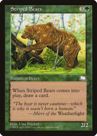Striped Bears [Weatherlight] | Red Dragon Gaming