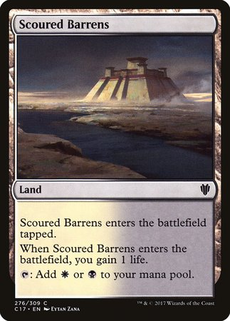 Scoured Barrens [Commander 2017] | Red Dragon Gaming