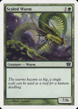 Scaled Wurm [Ninth Edition] | Red Dragon Gaming