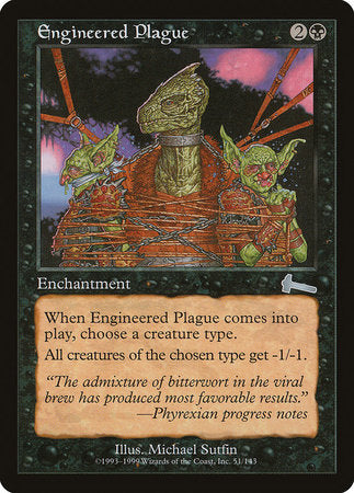 Engineered Plague [Urza's Legacy] | Red Dragon Gaming