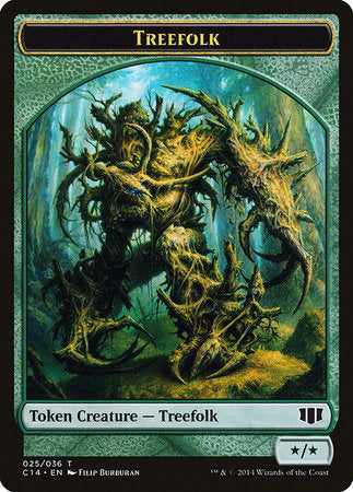 Treefolk // Wolf Double-sided Token [Commander 2014 Tokens] | Red Dragon Gaming