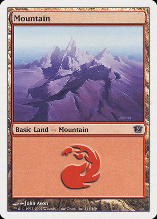 Mountain (344) [Ninth Edition] | Red Dragon Gaming