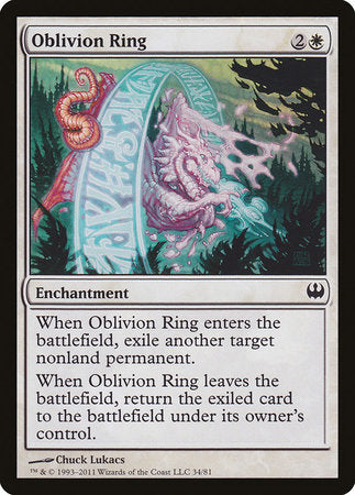 Oblivion Ring [Duel Decks: Knights vs. Dragons] | Red Dragon Gaming