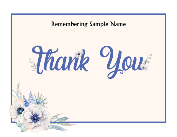Morning Bloom Thank You Card