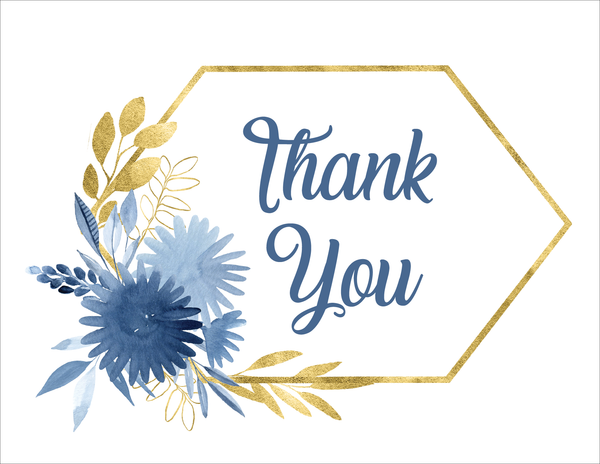 Blue Waters Thank You Card
