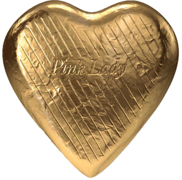 Pink Lady Dark Chocolate Hearts Gold Foil 30g