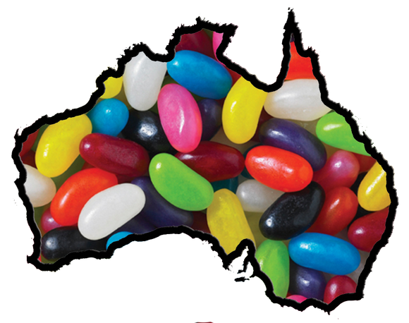 Aussie Glucose Assorted Jelly Beans