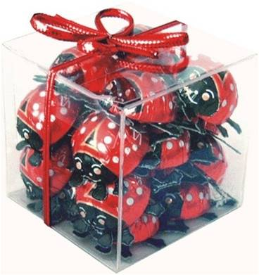 Storz Milk Chocolate Lady Bugs Cube Gift Pack 125g (20 Pieces)