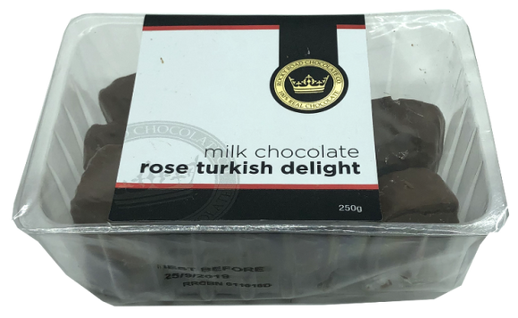 RRC Tubs Milk Chocolate Rose Turkish Delight 250g