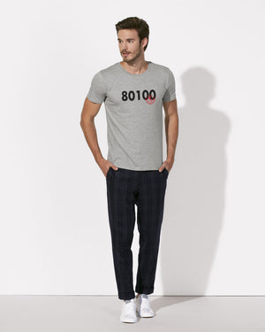 T-SHIRT MEN 80100 NAPOLI (GREY)