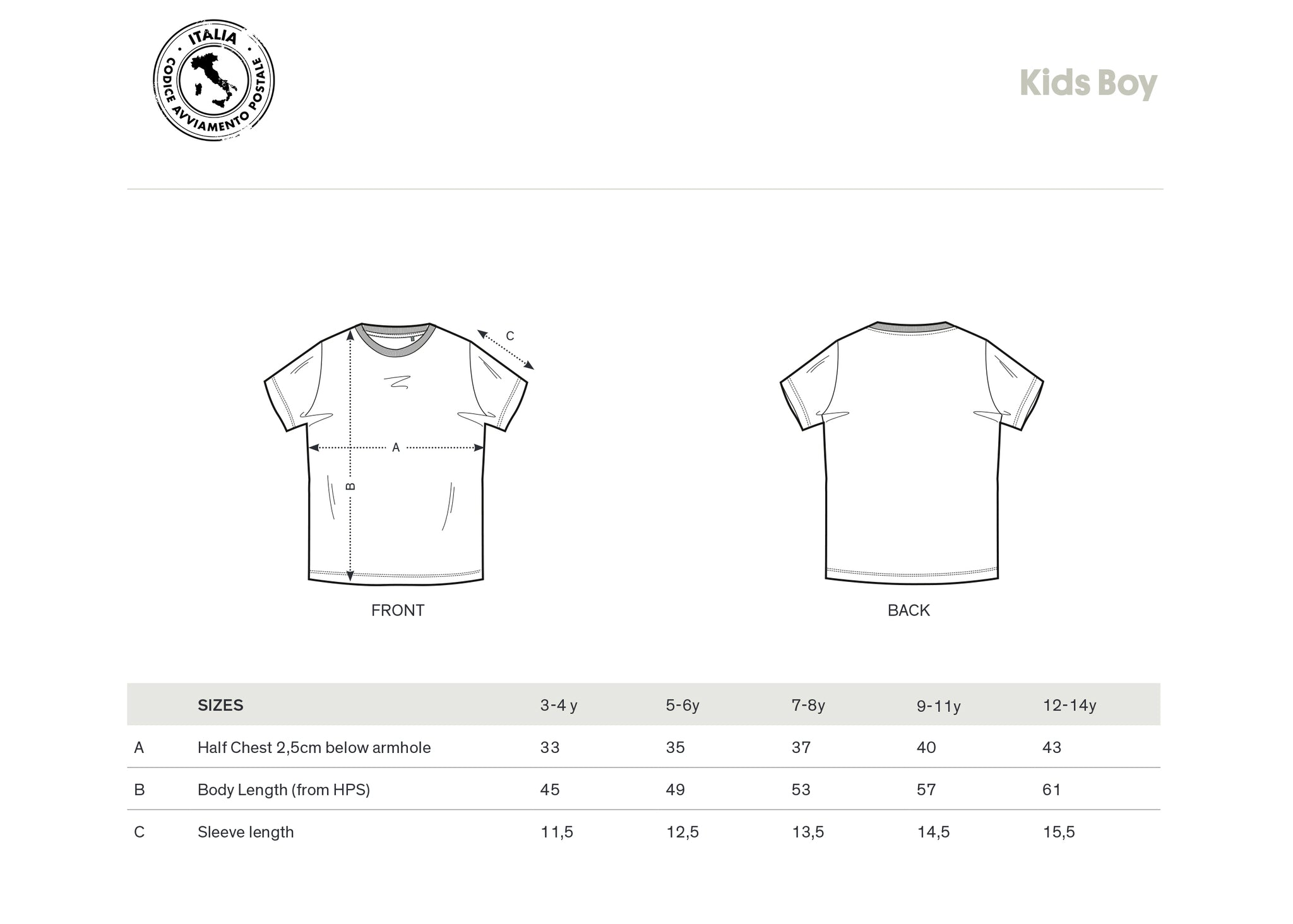 T-SHIRT KIDS BOY 03042 ATINA (WHITE)