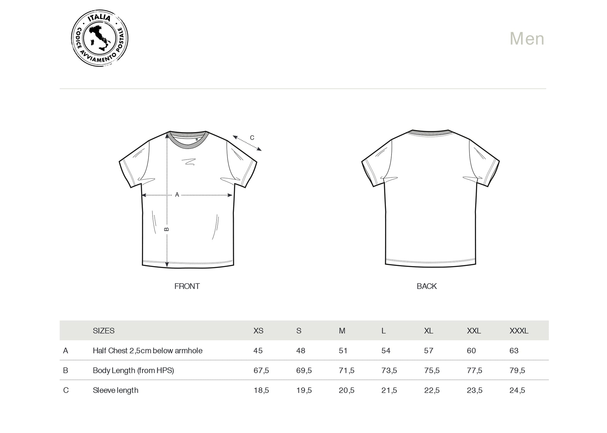T-SHIRT MEN 00100 ROMA (WHITE)