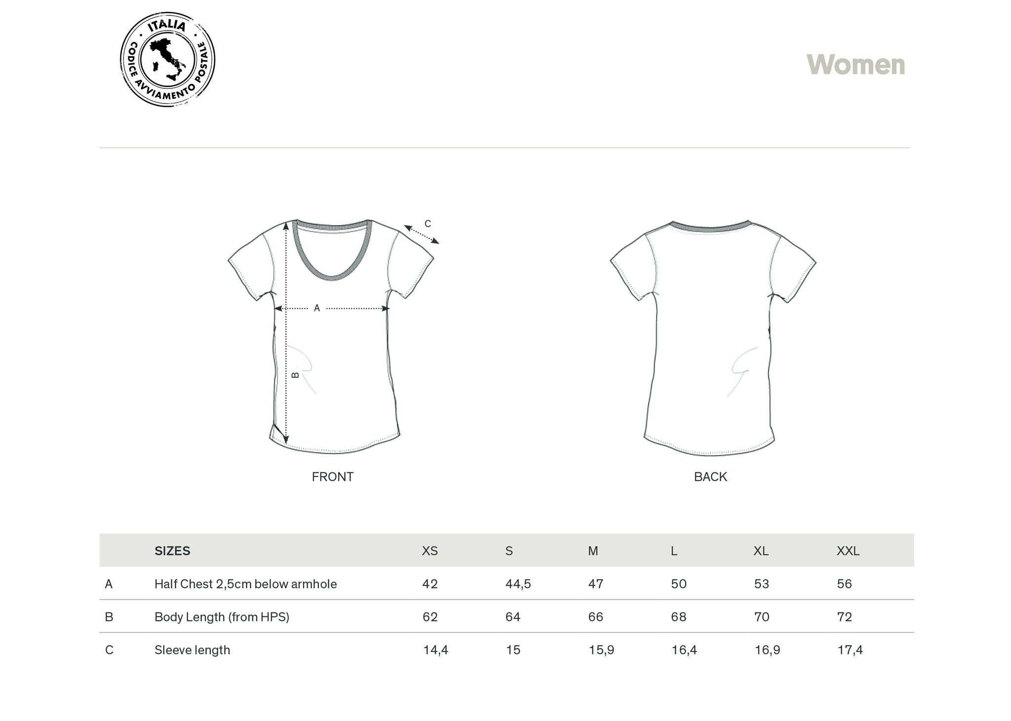 T-SHIRT WOMEN 80100 NAPOLI (GREY)