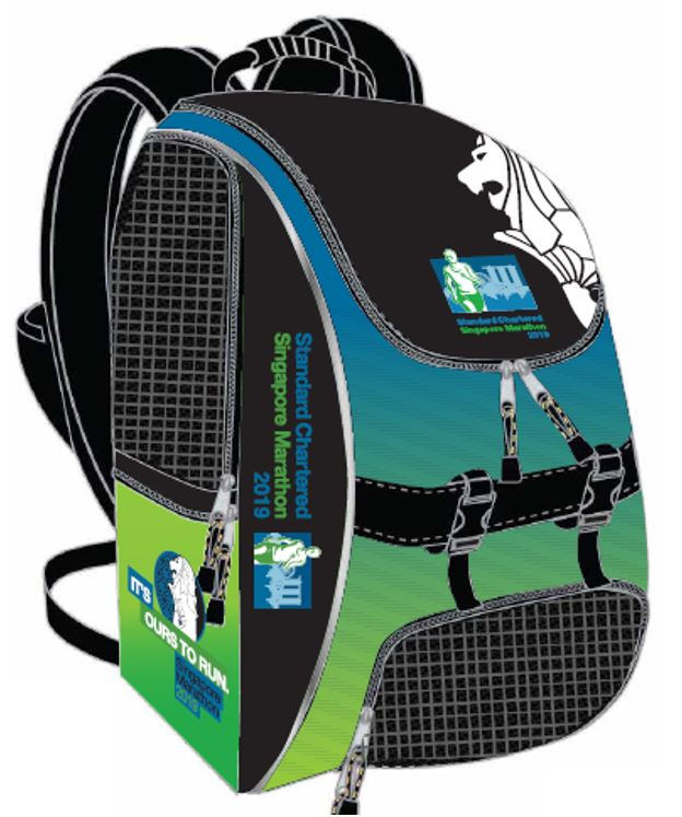 2019 Singapore Marathon Backpack