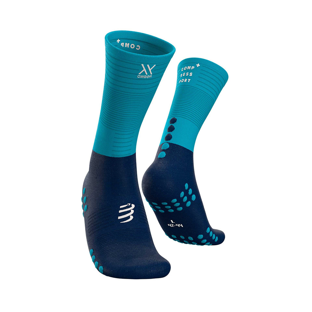 Compressport Mid Compression Sock - Blue/Black
