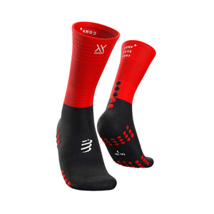 Compressport Mid Compression Sock - Red/Black