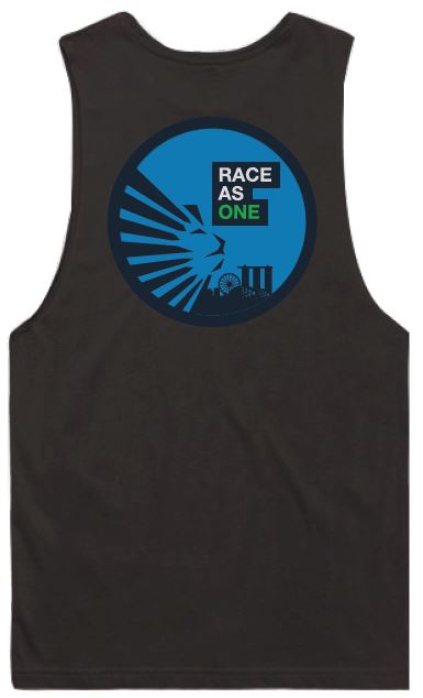 SCSM Men's Race as One Sleeveless Tank-  Coal