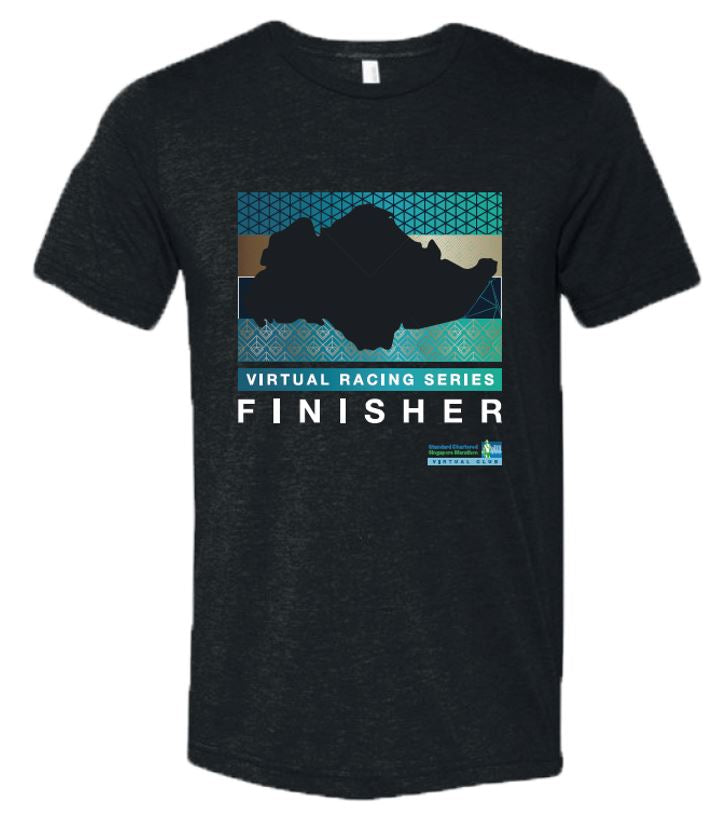 SCSM Men's Singapore Map Finisher Tee - Charcoal Black