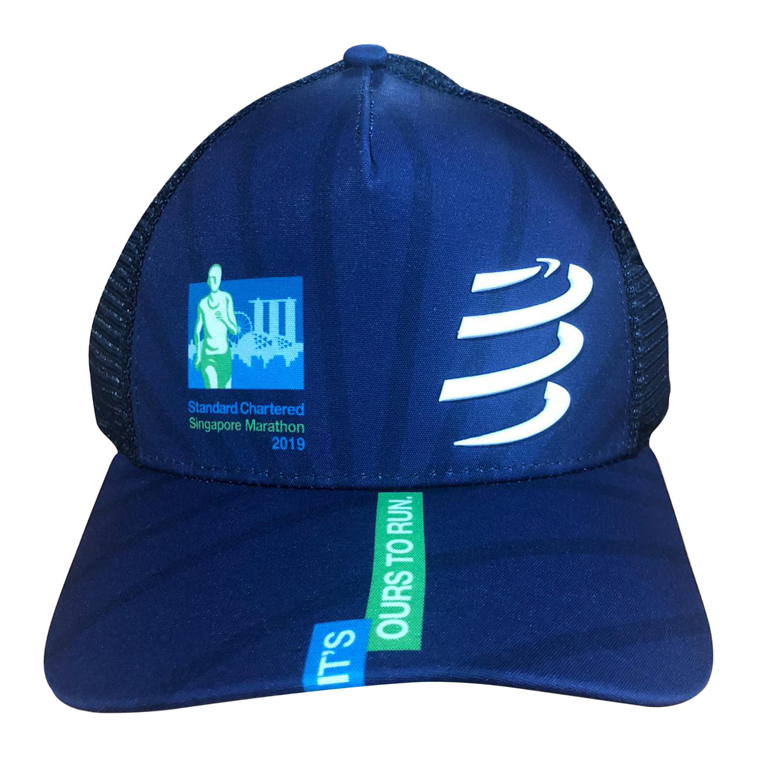 2019 Singapore Marathon Navy Trucker Hat