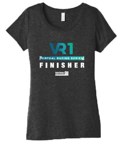 SCSM VR1 Women's Finisher Tee - Charcoal Black