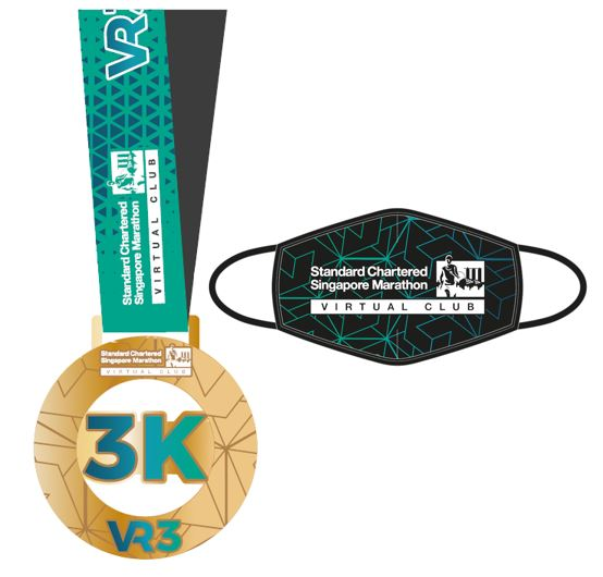 SCSM VR3- 3km Finisher Medal