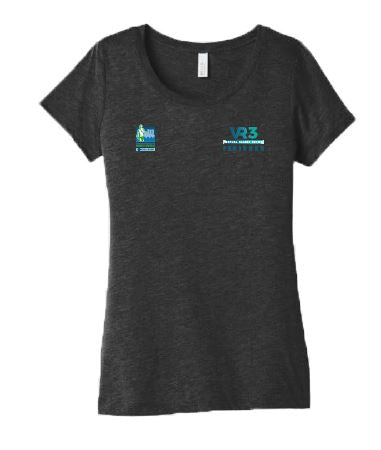 SCSM VR3 Women's Tee - Charcoal Black