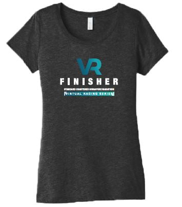 SCSM VR Women's Finisher Tee - Charcoal Black