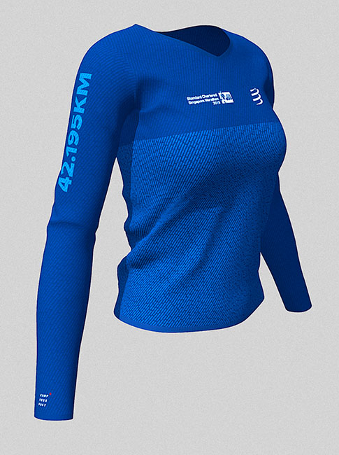 2019 Singapore Marathon - 42.2km Women's Long Sleeve Name Tee