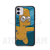Case Iphone Diseño The Simpsons Bart Nirvana NeverMind - Atomic Jam
