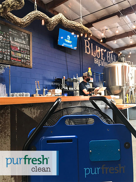 Blue Oak Brewing company using Purfresh SPACE