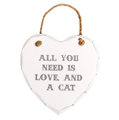 S&B All You Need is Love and a Cat Plaque