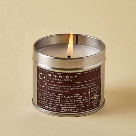 The Bearded Candlemakers-Irish Whiskey Soy Candle