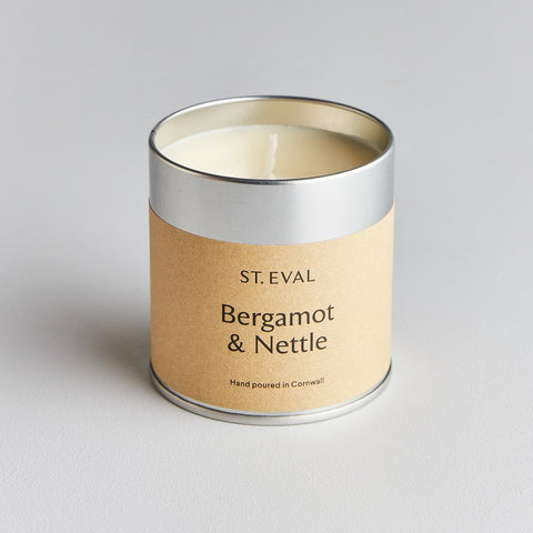St Eval Scented Tin Candle-Bergamot & Nettle Scented