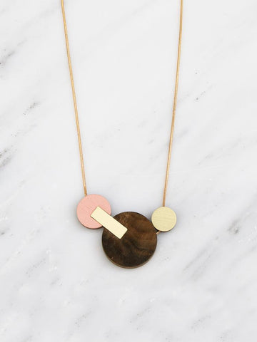 Wolf & Moon Celeste II Necklace in Walnut