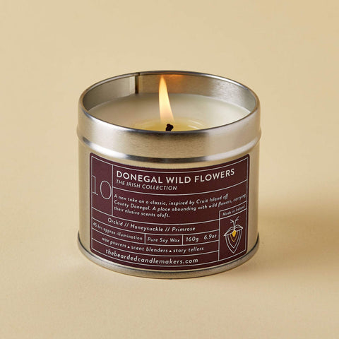 The Bearded Candlemakers-Donegal Wild Flowers Soy Candle