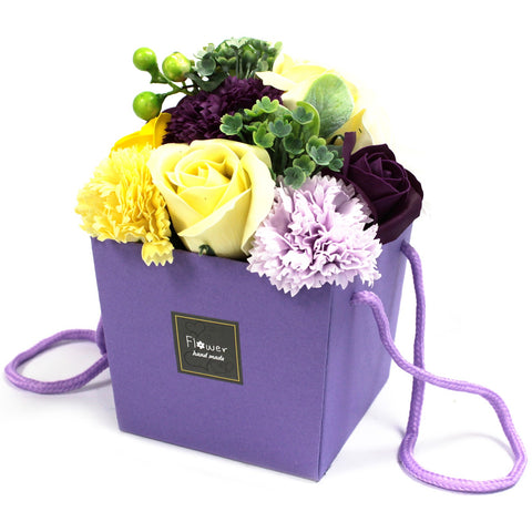 AW Soap Flower Bouquet - Purple Flower Garden