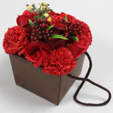 AW Soap Flower Bouquet - Red Rose & Carnation