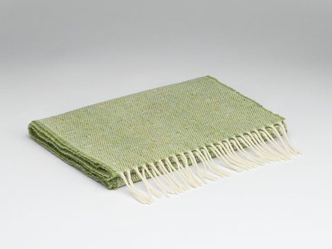 McNutt Lambswool & Tweed Scarf - Lime