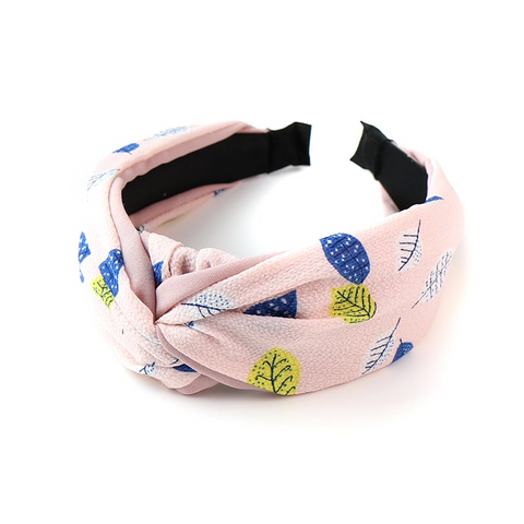 PM Pink Mix Leaf Print Headband