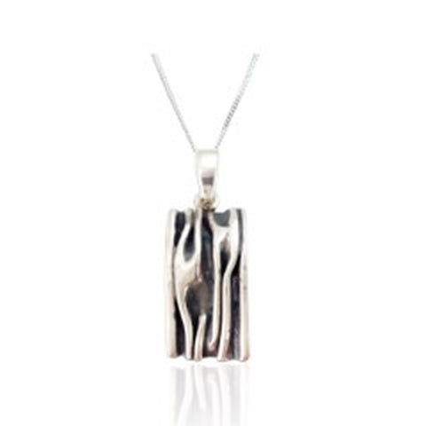 SPK Ailish Square Pendant (Oxidised)