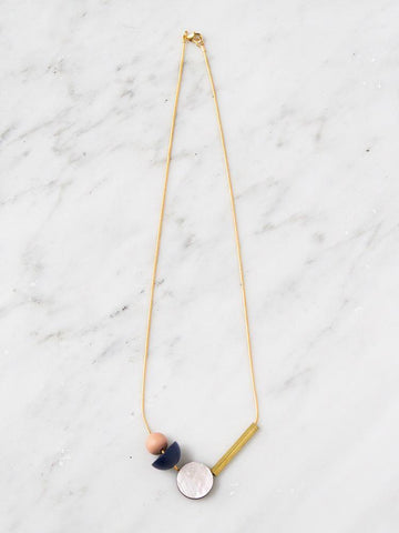 Wolf & Moon Elara Necklace in Midnight Blue