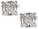 DLCO Cufflinks-Celtic Round Rhodium