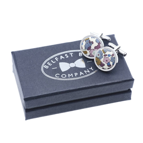 Belfast Bow Co Handmade Liberty Of London Cufflinks- White
