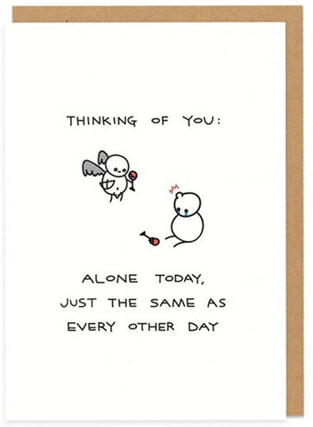 OD Thinking Of You Alone Card