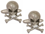 DLCO Rhodium Plated Cufflinks-Skull & Crossbones
