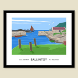 James Kelly Print-Ballintoy Harbour