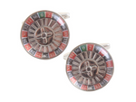 DLCO Rhodium Plated Cufflinks-Roulette Wheel